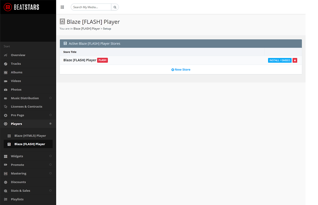BeatStars Blaze [FLASH] Player embed Code
