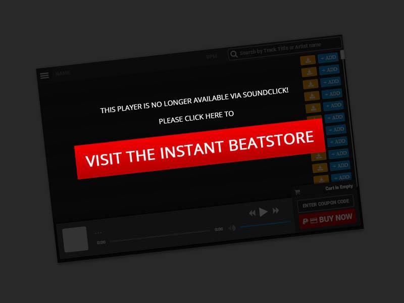Beatstars Blaze Player Website Button