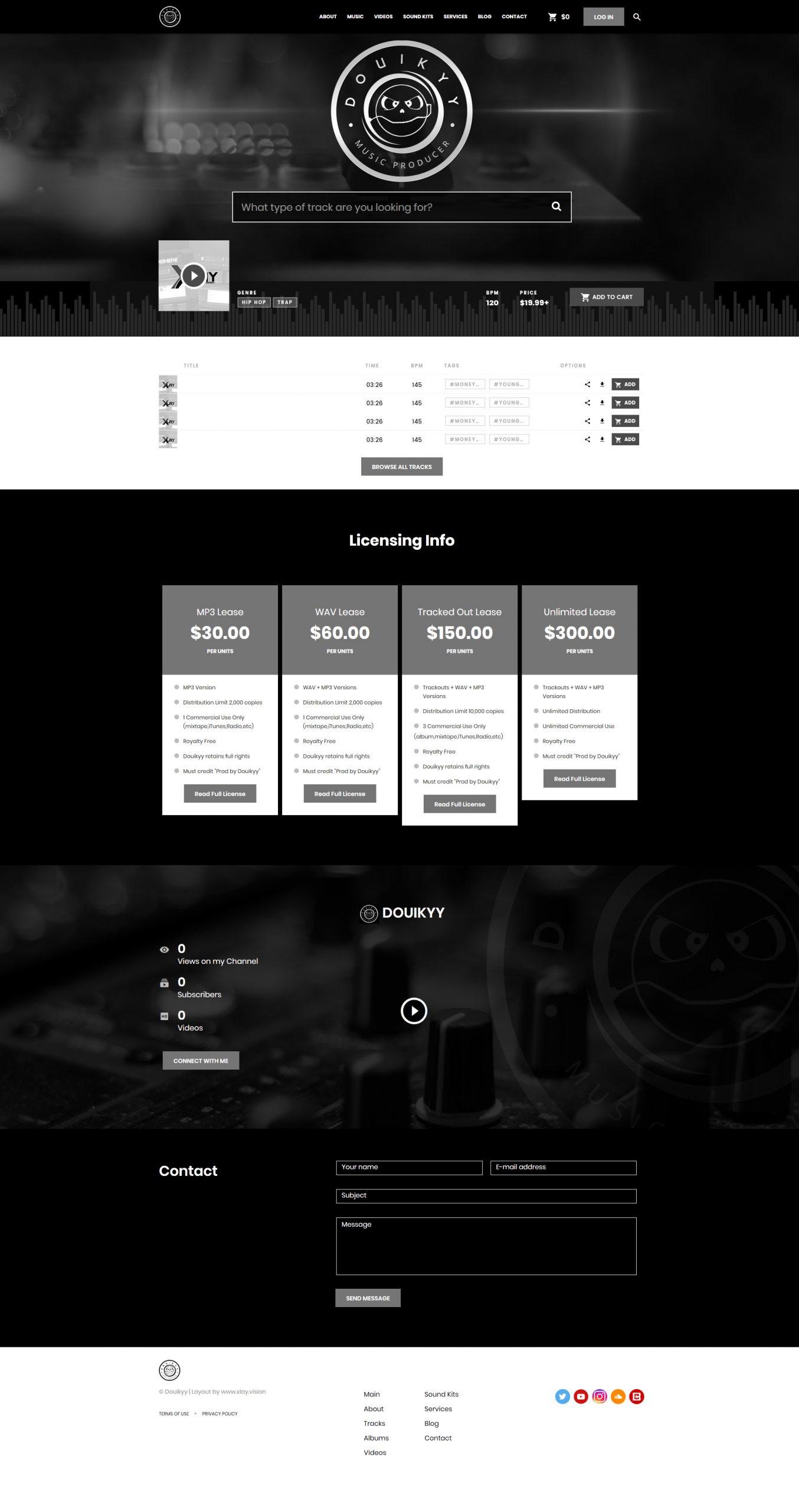 Custom Beatstars Pro Page 2.0 Design for Douikyy